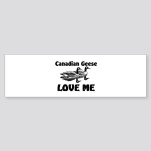 Canadian Geese Love Me Bumper Sticker