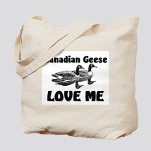 Canadian Geese Love Me Tote Bag