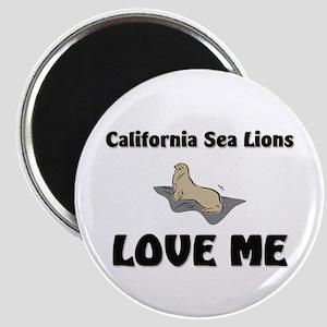 California Sea Lions Love Me Magnet