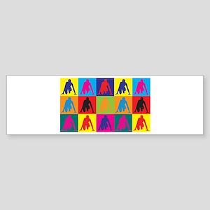 Running Pop Art Bumper Sticker