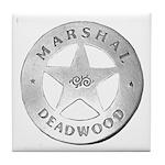 Deadwood Marshal Tile Coaster