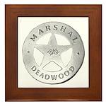 Deadwood Marshal Framed Tile