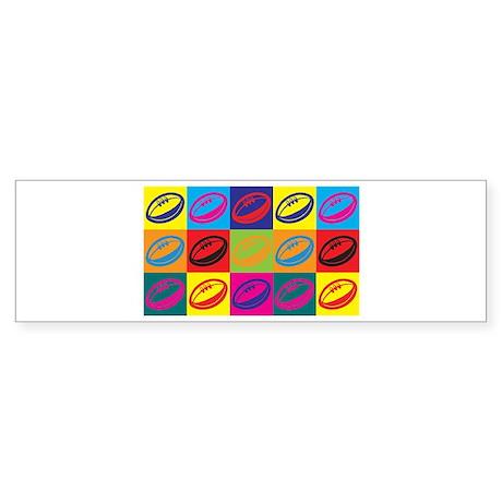 Rugby Pop Art Bumper Sticker