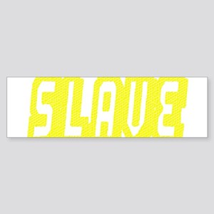 SLAVE-YELLOW MOSAIC OUTLINE Bumper Sticker