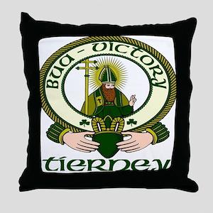 Tierney Clan Motto Throw Pillow