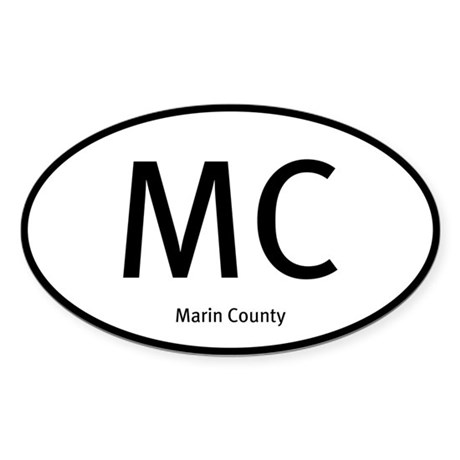 Marin County Lo-Cals Oval Sticker