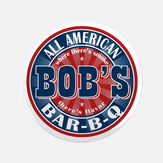 "Bob's All American BBQ 3.5"" Button (100 pack)"