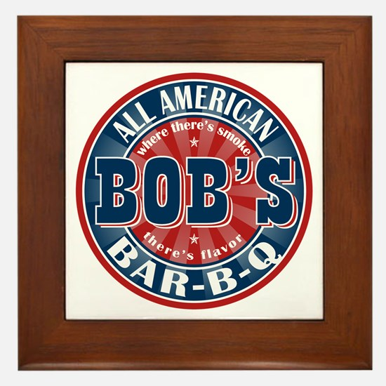 Bob's All American BBQ Framed Tile