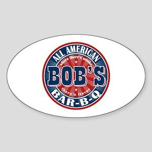 Bob's All American BBQ Oval Sticker