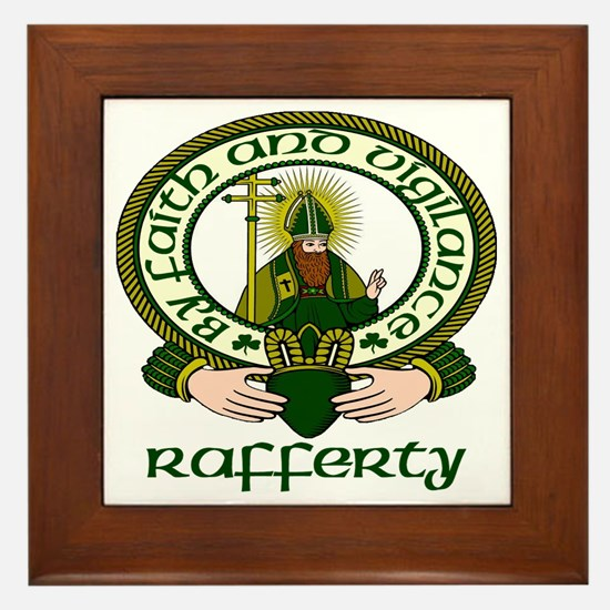 Rafferty Clan Motto Framed Tile