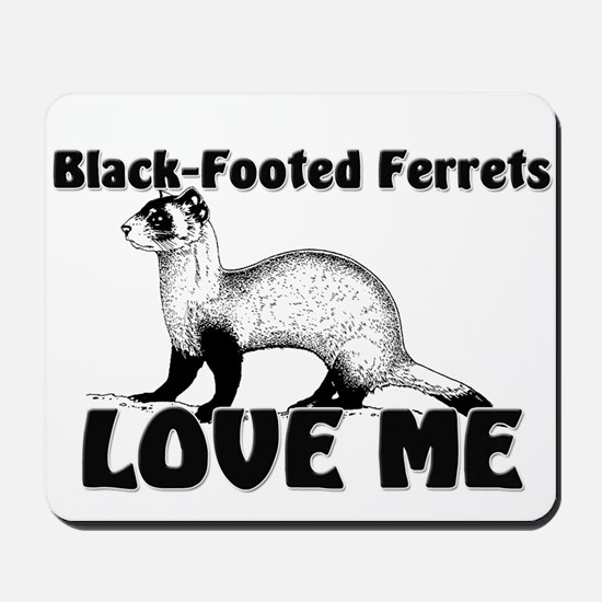 Black-Footed Ferrets Love Me Mousepad