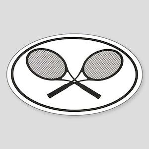 Tennis car stickers Oval Sticker