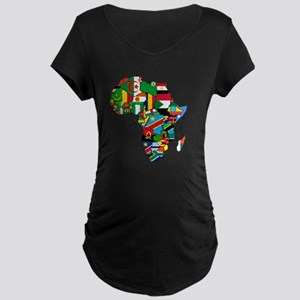 Flags of Africa Maternity Dark T-Shirt