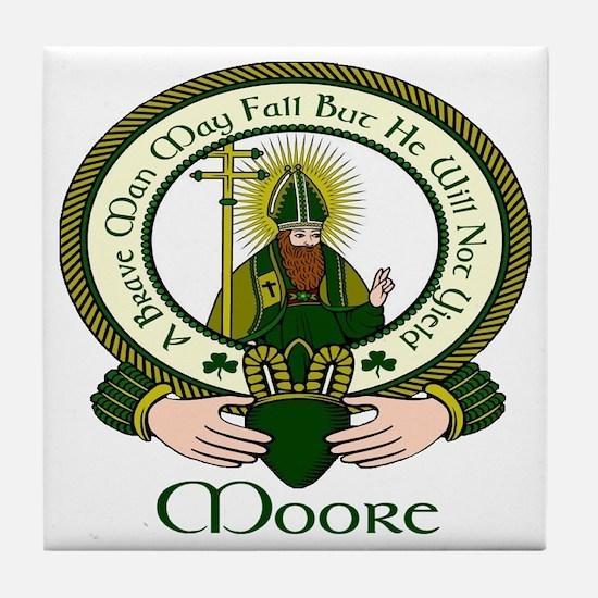 Moore Clan Motto Tile Coaster