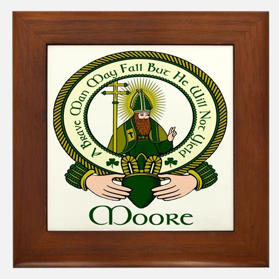 Moore Clan Motto Framed Tile