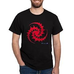 Red Spiral Crop Circle T-Shirt