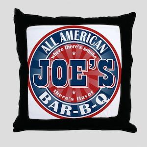 Joe's All American BBQ Throw Pillow