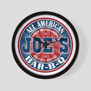 Joe's All American BBQ Wall Clock