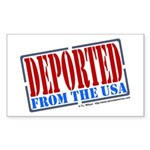 Deported From The USA Rectangle Sticker