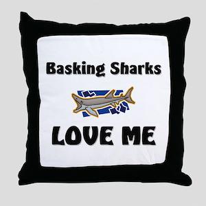 Basking Sharks Love Me Throw Pillow