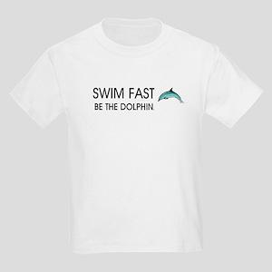 TOP Swim Slogan Kids Light T-Shirt