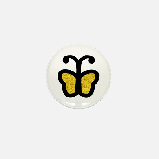 Yellow Butterfly Mini Button