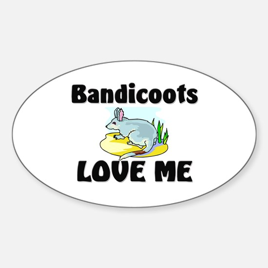 Bandicoots Love Me Oval Decal