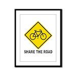 Share the Road Framed Panel Print