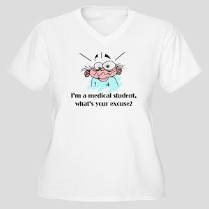 Frazzled Medical Student Women's Plus Size V-Neck