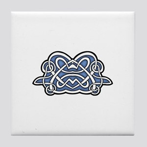 CELTIC64_BLUE Tile Coaster