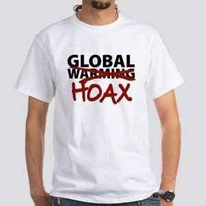 Global Warming Hoax White T-Shirt