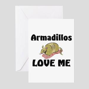 Armadillos Love Me Greeting Cards (Pk of 10)