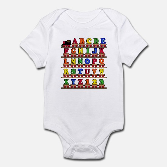 ABC Train Infant Bodysuit