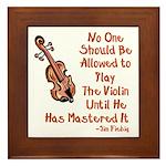 Funny Violin Quote Framed Tile
