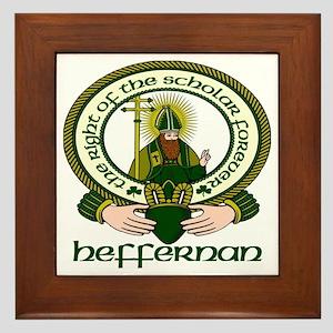 Heffernan Clan Motto Framed Tile