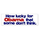 Lucky for Obama Bumper Sticker (50 pk)