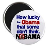 """Lucky for Obama 2.25"""" Magnet (100 pack)"""