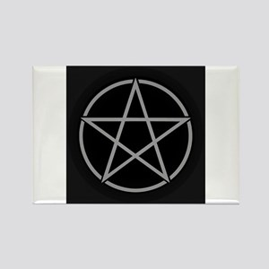 Black Pentacle Rectangle Magnet