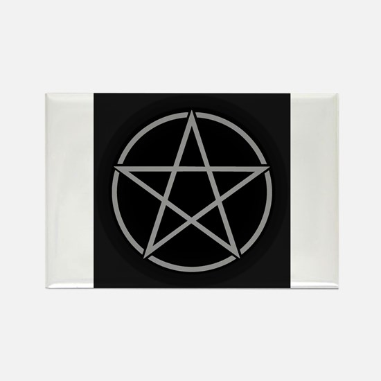 Black Pentacle Rectangle Magnet