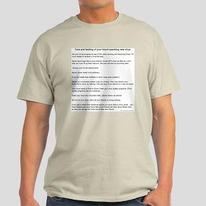 Virus Care Instructions Light T-Shirt