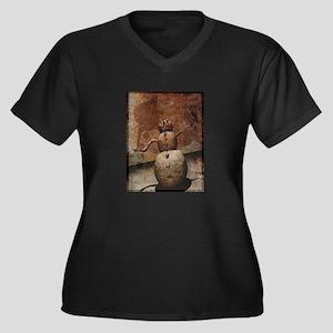 Evil Snowman Women's Plus Size V-Neck Dark T-Shirt