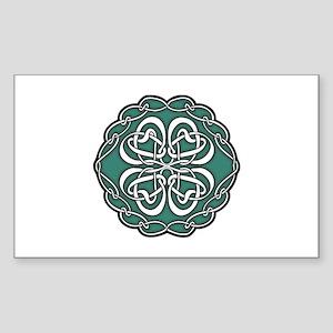 CELTIC76_GREEN Rectangle Sticker