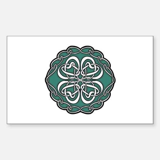 CELTIC76_GREEN Rectangle Decal