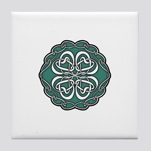 CELTIC76_GREEN Tile Coaster