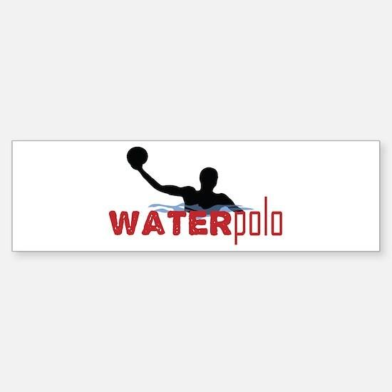 waterpolo silhouette Bumper Bumper Bumper Sticker