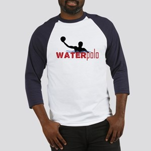 waterpolo silhouette Baseball Jersey
