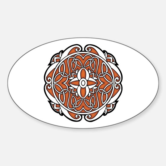 CELTIC77_ORANGE Oval Decal
