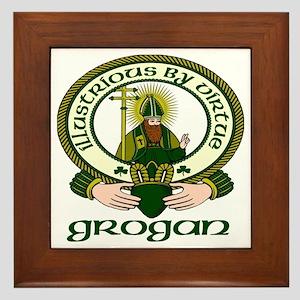 Grogan Clan Motto Framed Tile