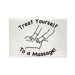 Treat Yourself Massage Rectangle Magnet (100 pack)