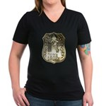 Town Drunk Women's V-Neck Dark T-Shirt